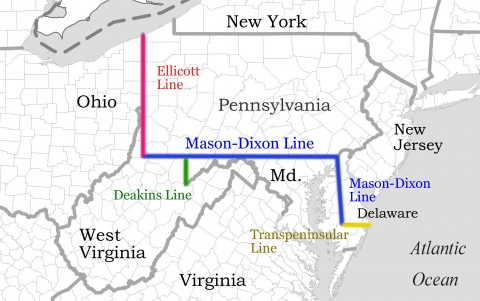 Southern Partisan Online The MasonDixon Line - Us map with mason dixon line