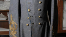 A Civil War coat worn by Confederate soldier Col. Collett Leventhorpe. A Civil War coat worn by Confederate soldier Col. Collett Leventhorpe. Chris Seward File photo