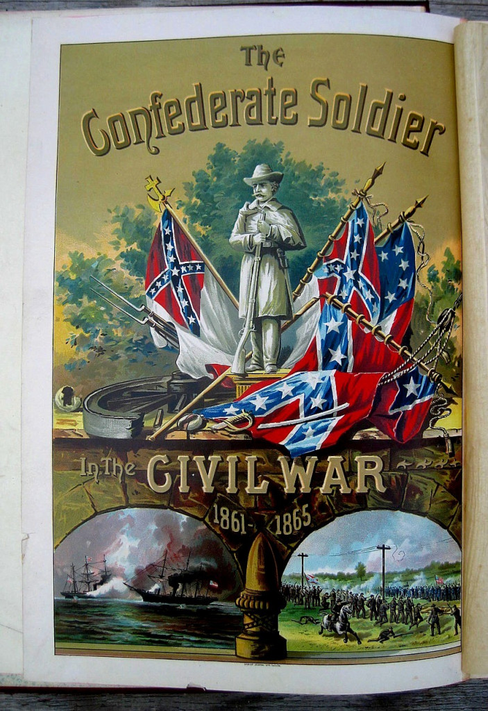 Page from an 1895 book celebrating achievements of Confederate soldiers