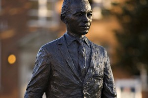 The James H. Meredith statue on the campus of the University of Mississippi in Oxford, Miss. Photo by Wesley Hitt/Getty