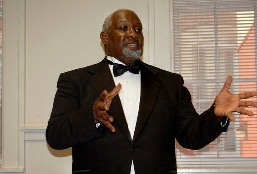 STAFF PHOTOs BY DEDE BILES Donald Sweeper portrayed black Civil War hero Robert Smalls during a performance at the Aiken County Public Library on May 14.