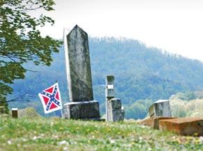 Civil War cemetery.