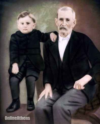 Special/ H.V. Booth as a child with his father Isham Booth, a veteran of the Civil War.