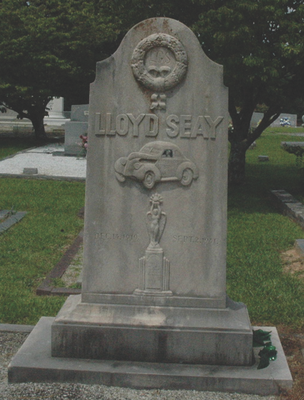 Tombstone of stock car driver Lloyd Seay.
