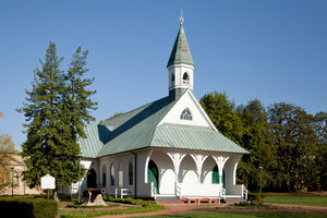 Confederate Memorial Chapel is one of two surviving buildings from the time when a home for Confederate veterans operated at the eventual site of the Virginia Museum of Fine Arts.