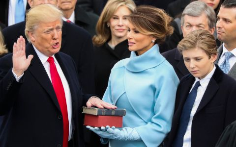 Trump Swears In on Family, Lincoln Bible