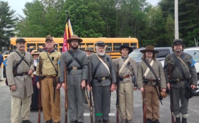 Some members of the 15th Alabama at the Memorial Day parade in Gray.