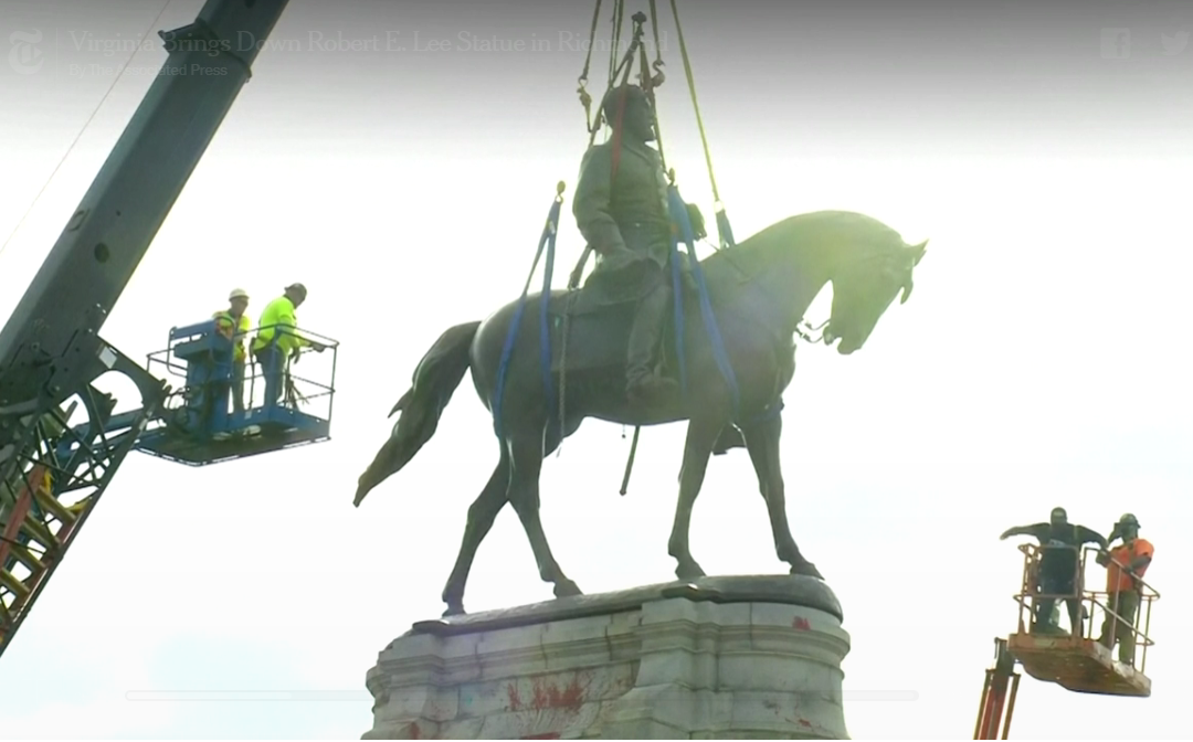 Virginia Removes Robert E. Lee Statue From State Capital